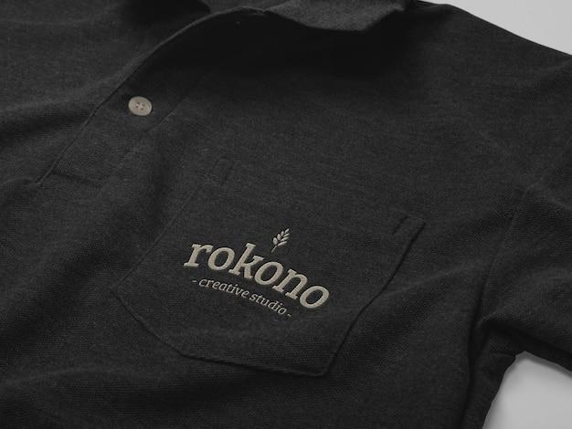 Polo design mockup isolato con tasca Psd Premium