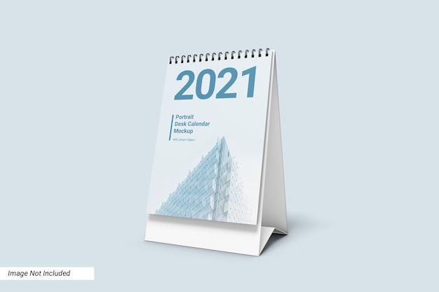 Mockup del calendario da tavolo verticale Psd Premium