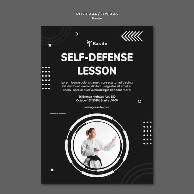 Modello di classe di karate poster Psd Premium