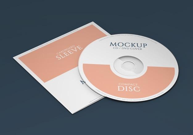 Mockup pacchetto cd materiale promozionale Psd Premium