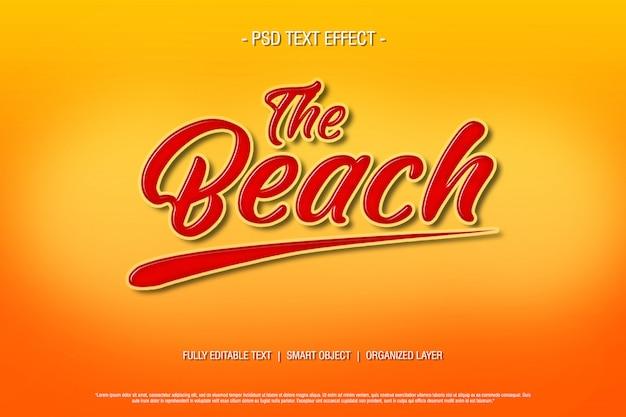 Effetto psd testo sulla spiaggia Psd Premium