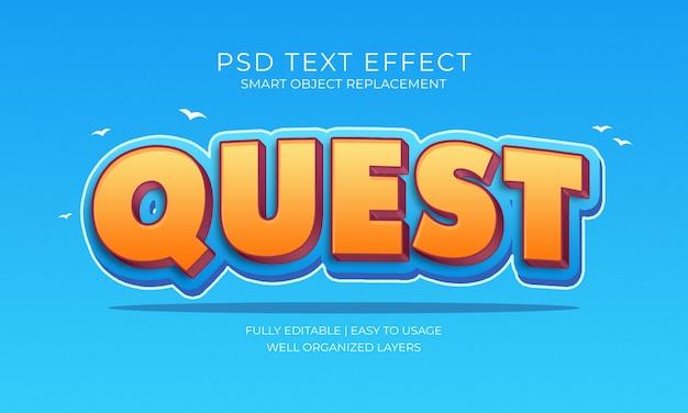 Effetto testo quest Psd Premium