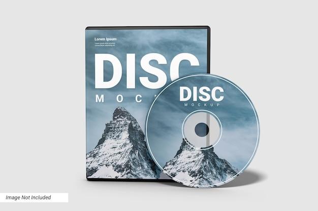 Compact disc realistico e case mockup Psd Premium