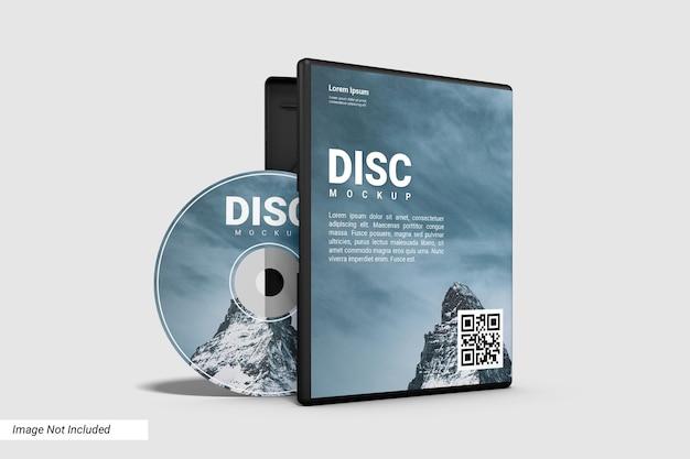 Compact disc realistico e mockup caso aperto Psd Premium