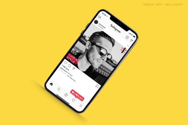 Creatore di scene di smartphone mobile realistico mockup. Psd Premium