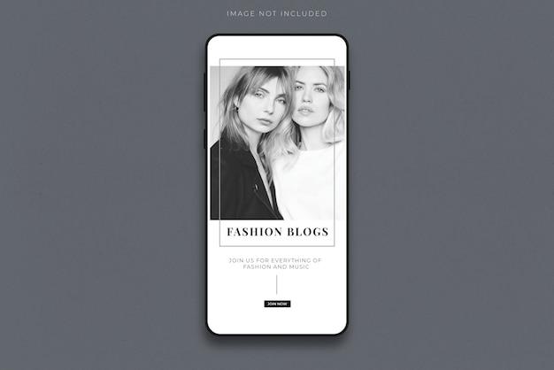 Mockup di smartphone mobile realistico Psd Premium