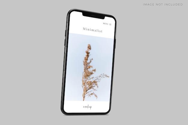 Realistico telefono mockup scene Psd Premium