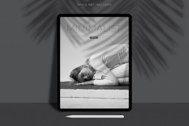Realistico tablet mockup scene Psd Premium