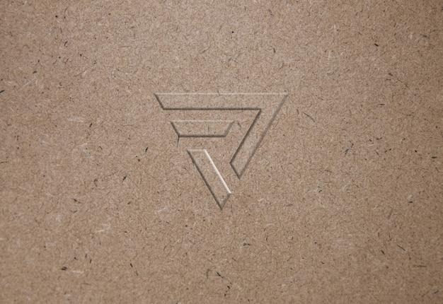 Mockup di logo di carta riciclata texture Psd Premium
