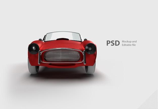 Macchina rossa isolata Psd Premium