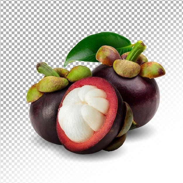 Frutta matura del mangostano isolata Psd Premium