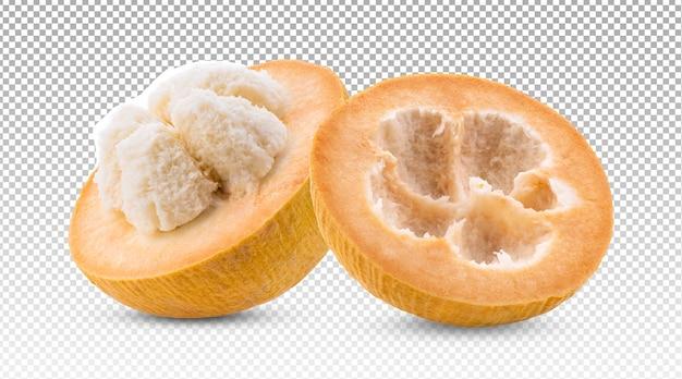 Frutta matura del cotone di santol isolata Psd Premium
