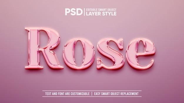 Effetto strato di oggetti intelligenti di lusso in oro rosa Psd Premium