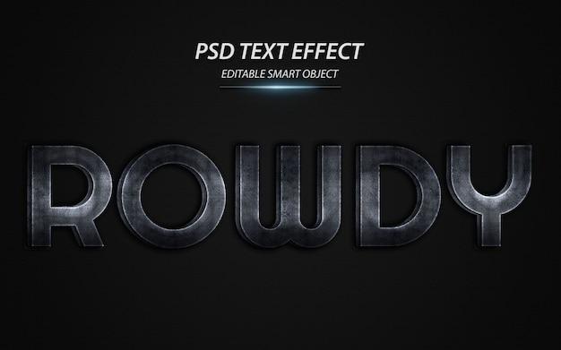 Modello di disegno di effetto testo turbolento Psd Premium