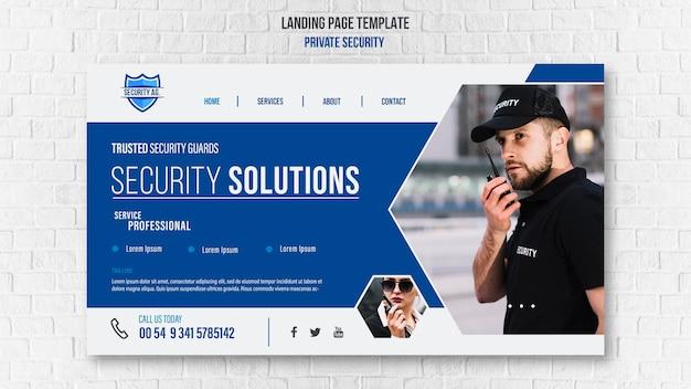 Modello di pagina di destinazione dei servizi di sicurezza Psd Premium
