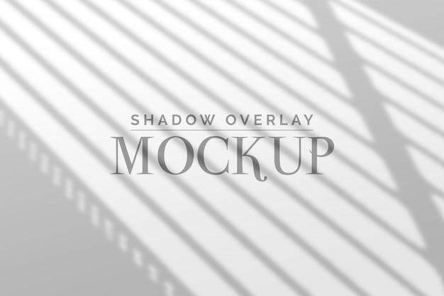 Mockup di sovrapposizione di ombre Psd Premium