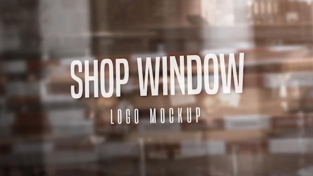 Mockup logo vetrina Psd Premium