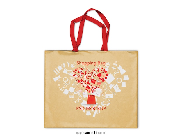 Shopping bag mockup Psd Premium