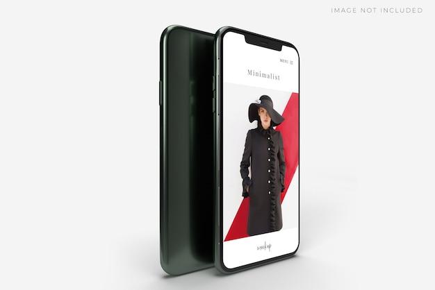 Modello di smartphone Psd Premium