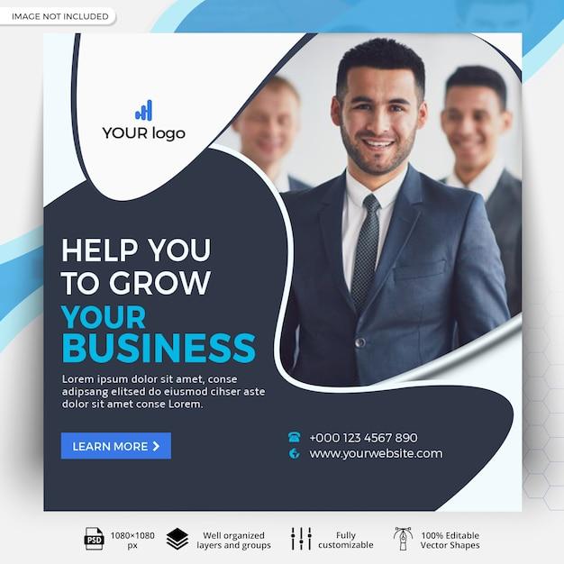 Modello di post business social media Psd Premium