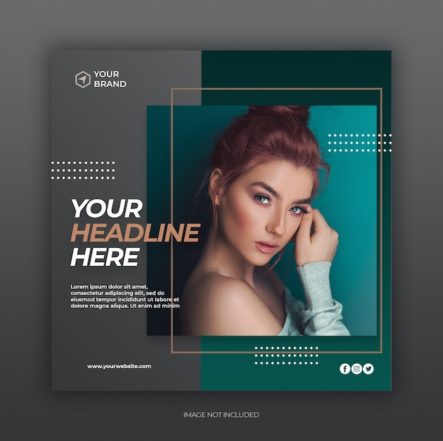 Volantino post social media Psd Premium