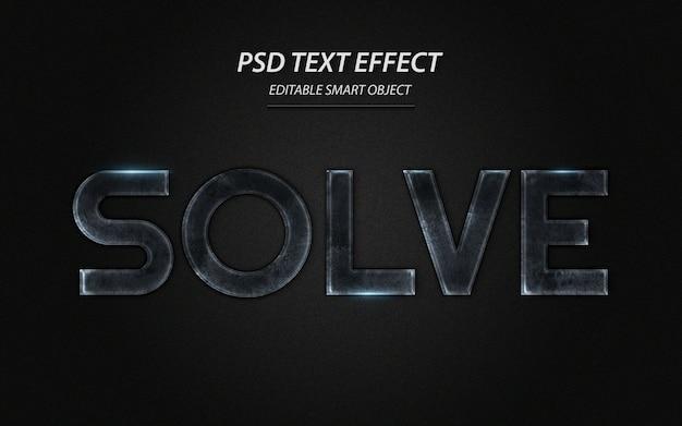 Risolvi il modello di progettazione dell'effetto di testo Psd Premium