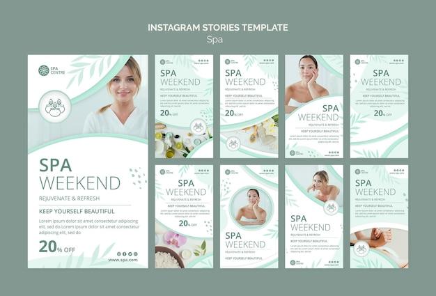 Modello di storie di instagram di fine settimana spa Psd Premium