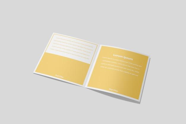 Brochure quadrata bifold mockup 4 Psd Premium