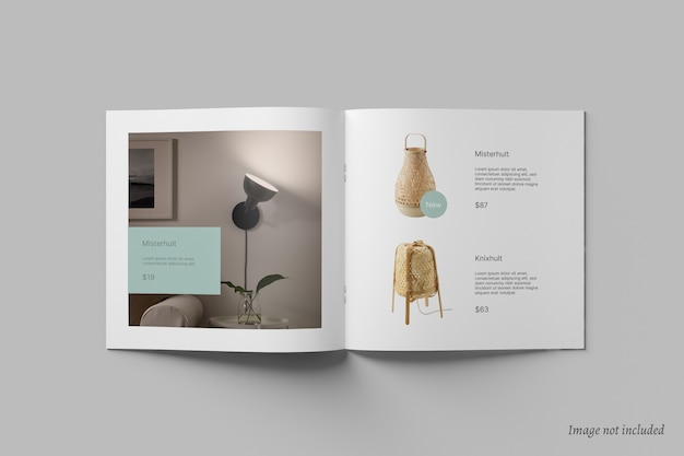 Brochure quadrata e mockup del catalogo Psd Premium