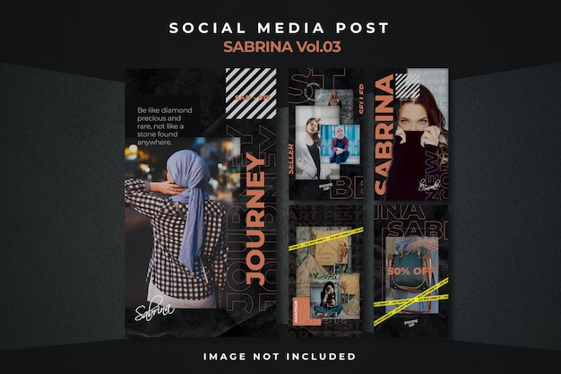 Modello di post per feed di social media con volantino quadrato Psd Premium