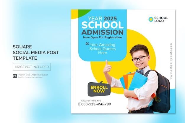 Square social media instagram post o modello di banner web con concetto di design di titolo Psd Premium