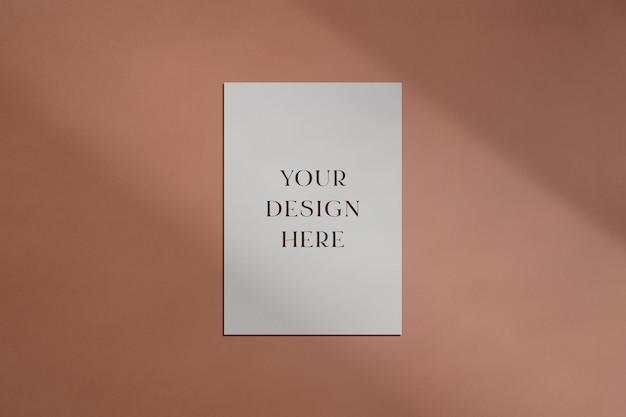 Mockup di elementi decorativi con sovrapposizione di ombre Psd Premium