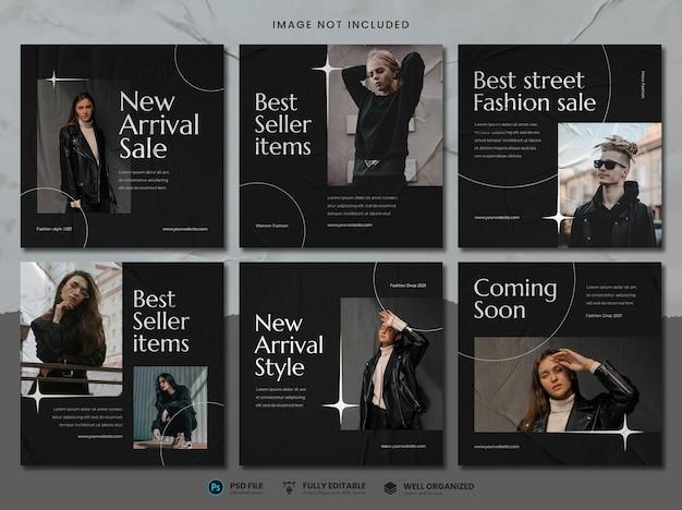 Modello di social media di vendita di moda di strada Psd Premium