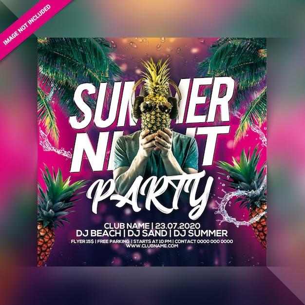 Volantino festa d'estate Psd Premium