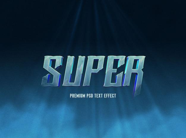 Modello effetto testo blu scuro super Psd Premium