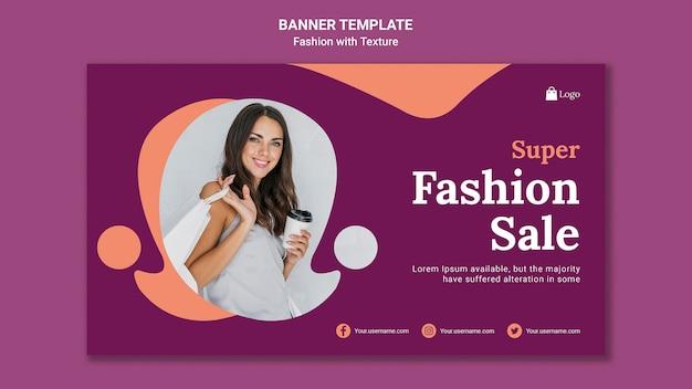Modello di banner di vendita di super moda Psd Premium