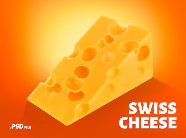Triangolo di formaggio svizzero Psd Premium