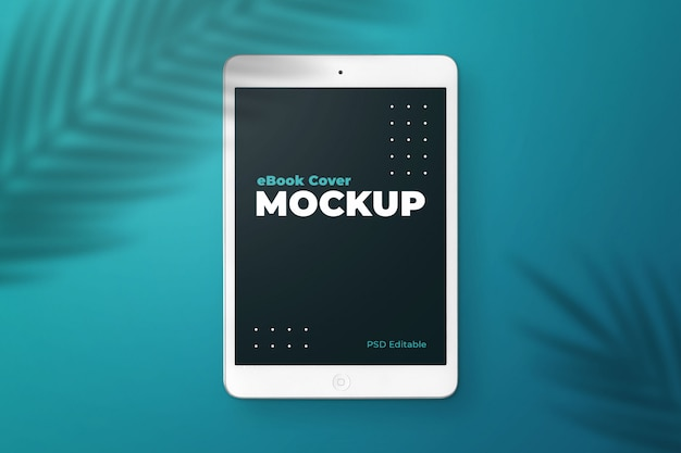 Tablet ebook cover mockup Psd Premium
