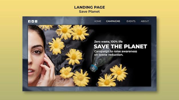 Prenditi cura della pagina di destinazione della terra Psd Premium
