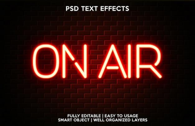 Modello per il carattere del testo con effetto testo in onda Psd Premium
