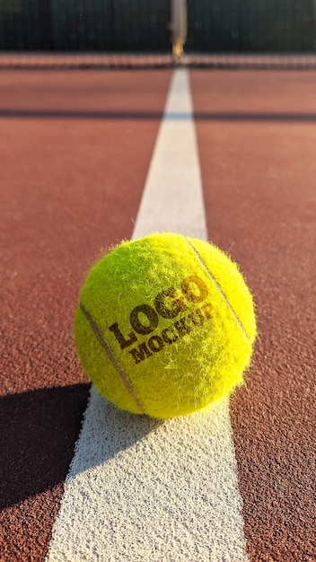 Mockup del logo della palla da tennis Psd Premium
