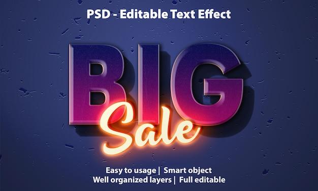 Modello di grande vendita di effetto testo Psd Premium