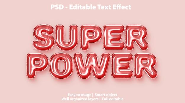 Modello super power effetto testo Psd Premium
