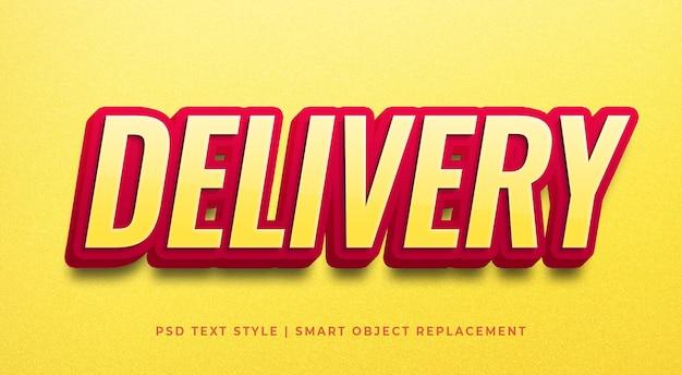 Effetto stile testo con modello di calligrafia di colore rosso esperto Psd Premium