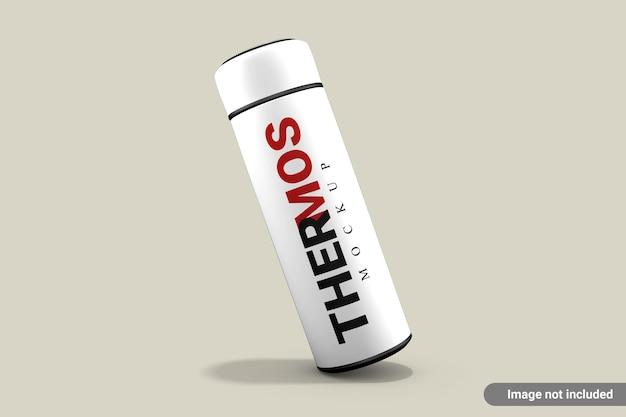 Thermos bottiglia d'acqua mockup isolato Psd Premium