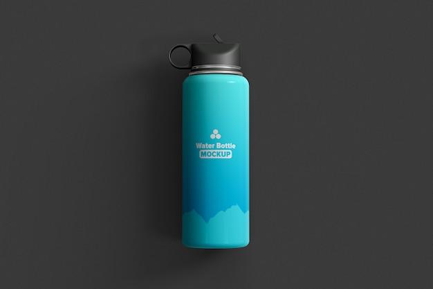 Thermos bottiglia d'acqua vista dall'alto mockup isolato Psd Premium