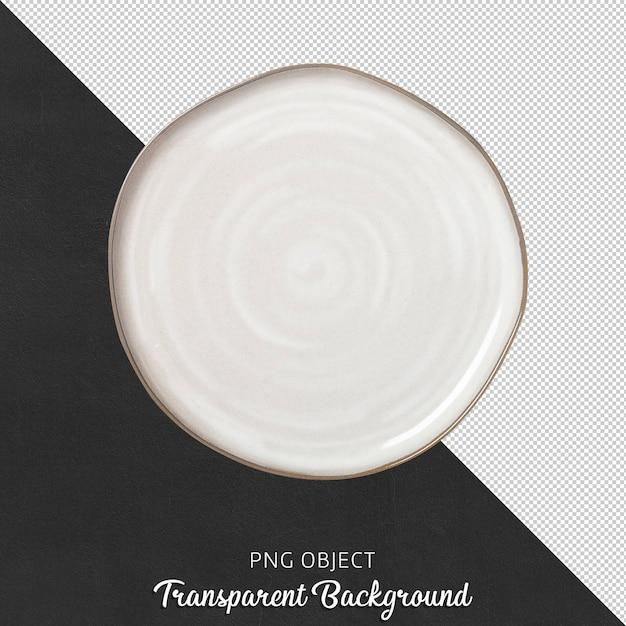 Vista dall'alto del mockup piatto rotondo bianco asimmetrico Psd Premium
