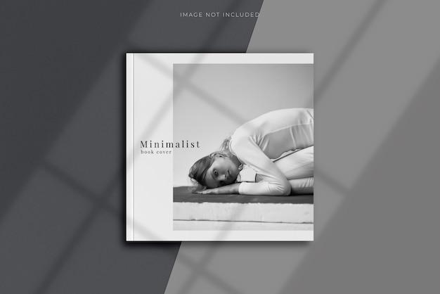 Vista dall'alto della copertina vuota del magazine mockup Psd Premium