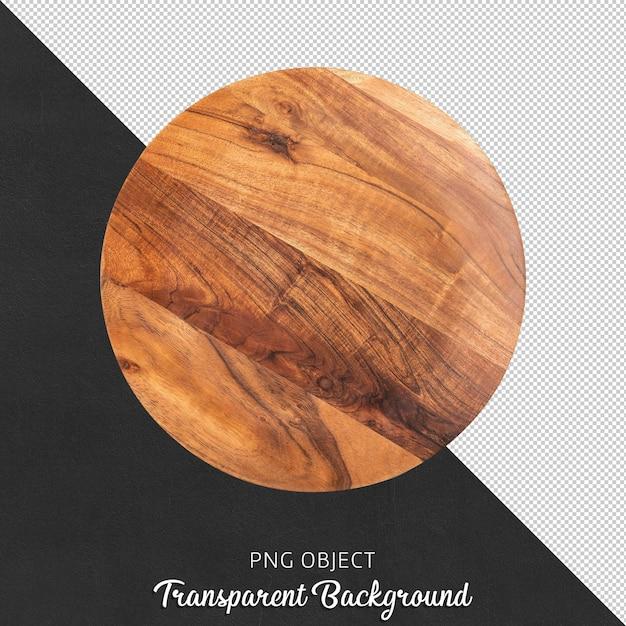 Vista dall'alto del tagliere in legno Psd Premium