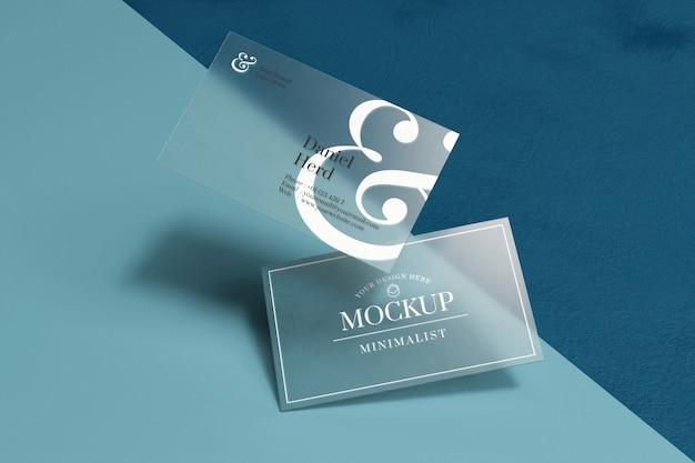 Mockup di biglietti da visita trasparente Psd Premium